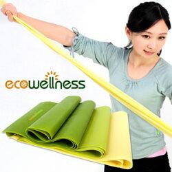 【ecowellness】彼拉提斯帶(三種厚度)(皮拉提斯帶.韻律瑜珈帶.芭蕾拉筋帶.懶人彈力帶.健身拉力帶.Pilates伸展帶)c016-102c