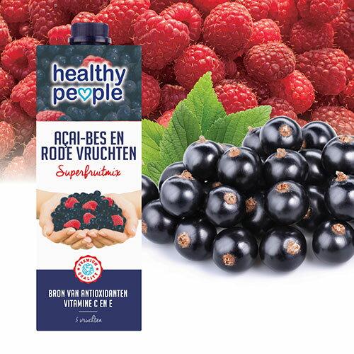 【Healthy People】超級水果 巴西莓與紅莓果汁 (1000ml)
