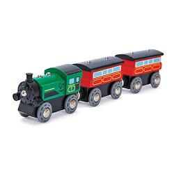 【免運費】《 德國 Hape 愛傑卡 》 Hape 軌道系列 - 連結火車(綠)