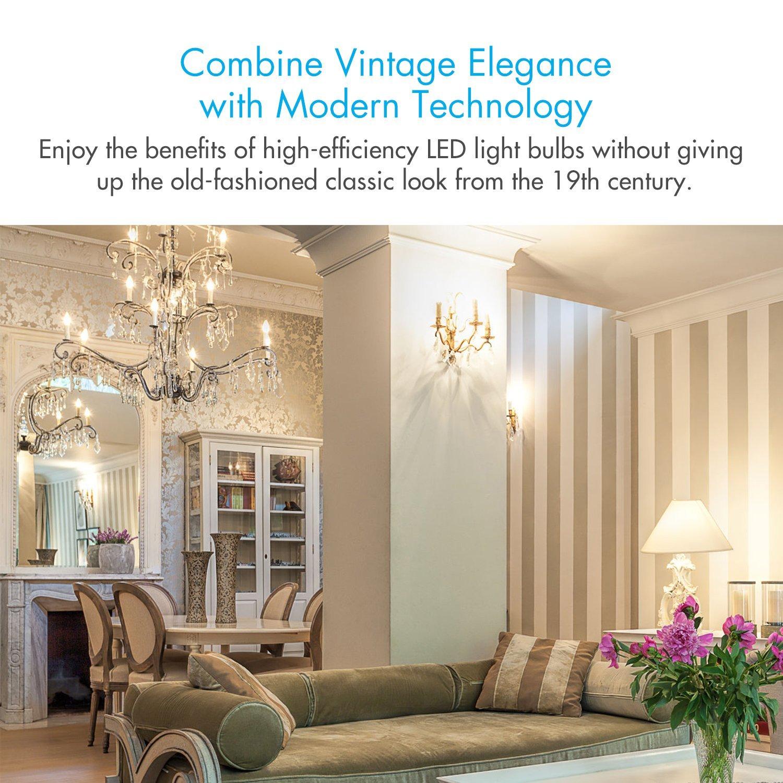 Tenergy Dimmable Candelabra LED Bulbs, 4W(40 Watt Equivalent), E12 LED  Bulbs, 400LM Warm White 2700K B11 Chandelier Light Bulbs, LED Ceiling Fan  Bulbs