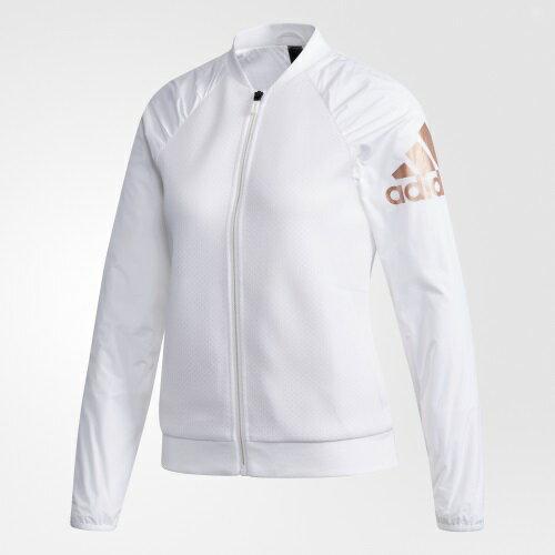 ADIDAS JKT KN BOMBER 女裝 外套 立領 飛行外套 訓練 健身 休閒 白【運動世界】DN3167