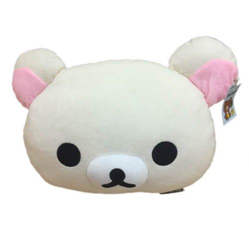 【真愛日本】15121700022 頭型抱枕-18吋奶熊 SAN-X 懶懶熊 拉拉熊 娃娃 玩偶 枕頭 靠枕 正版