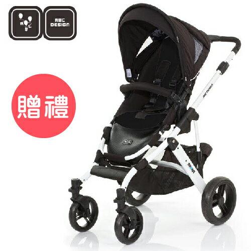 【好禮五選二】德國【ABC Design】Mamba推車 (白管黑底) 0
