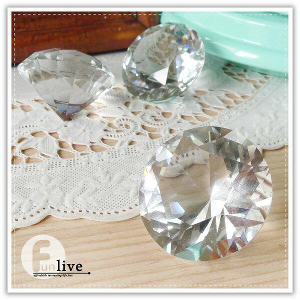 【aife life】150克拉鑽石擺飾/可刻字/超大鑽戒/求婚告白/情人節禮物/婚禮小物/婚紗攝影