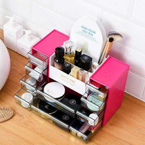 ♚MYCOLOR♚多功能化妝品收納盒透明口紅架梳妝台護膚品整理盒首飾化妝盒文具【P606】