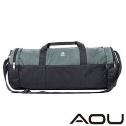 【AOU微笑旅行】圓桶旅行袋 行李袋(酷灰101-001)【威奇包仔通】