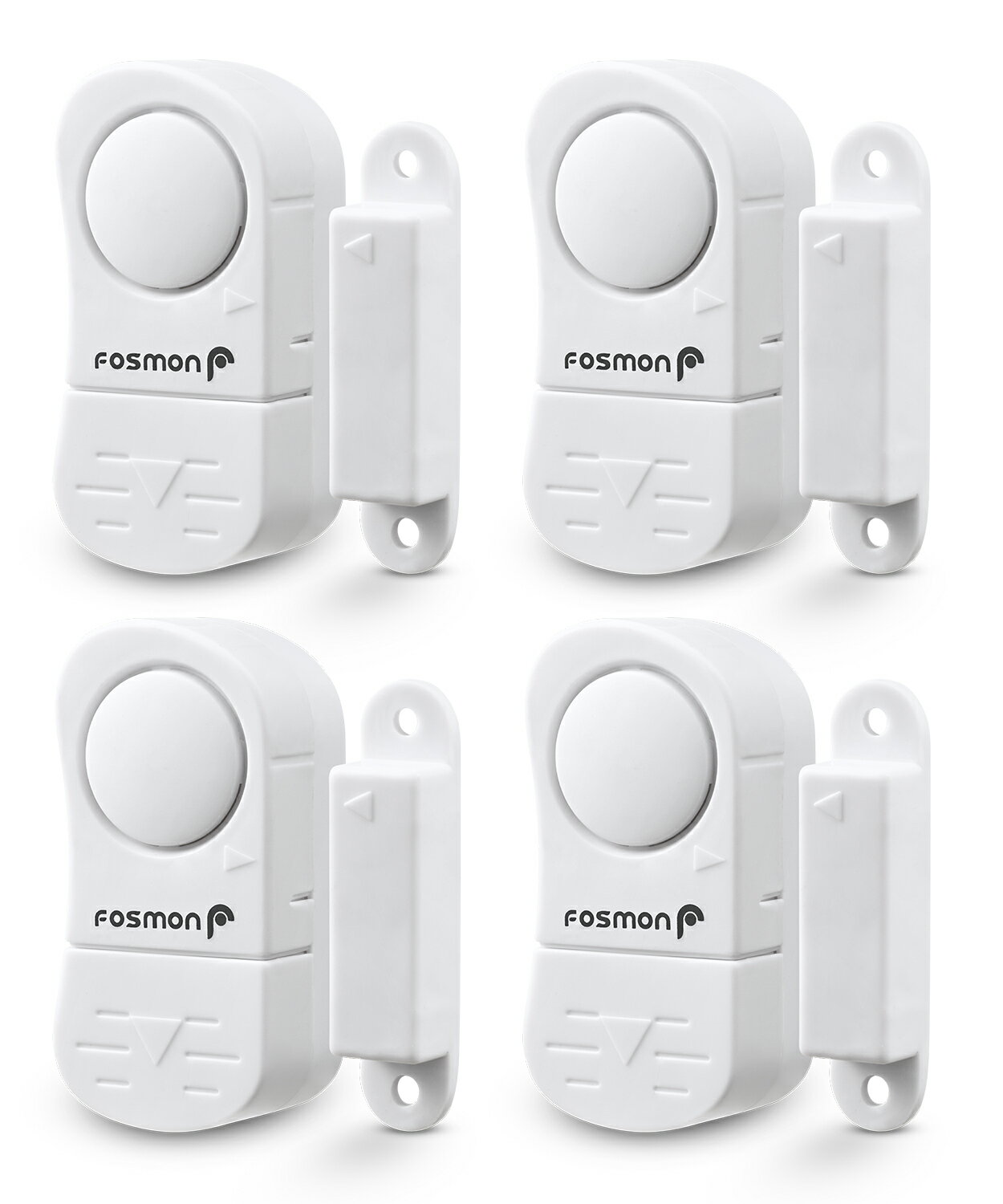 4-Pack Fosmon Wireless Door/Window Alarm Sensor with 2 Chimes