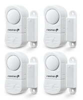 4-Pack Fosmon Wireless Window/door Alarm Sensors With 2 Chimes