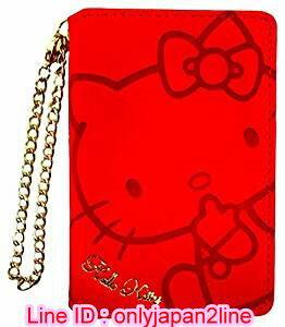 【真愛日本】16110900078卡片磁鐵夾附鏡-KT壓印吮指紅  三麗鷗 Hello Kitty 凱蒂貓 卡片夾 皮夾 收納