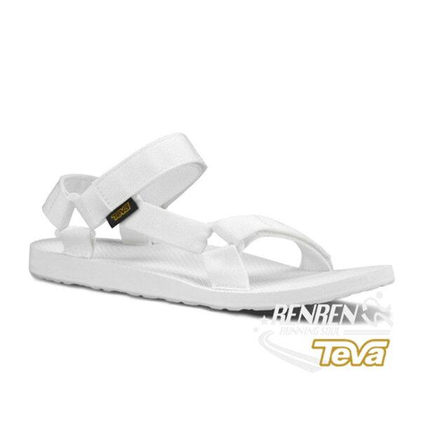 TEVA女運動涼鞋Original(白)織帶涼鞋TV1003987BRW【胖媛的店】