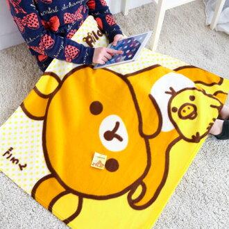 正版拉拉熊絨毛刷毛毯(發呆中) 刷毛保暖毯 毯被 保暖被 毛毯 懶人毯 冷氣毯 毯子 Rilakkuma【B061399】