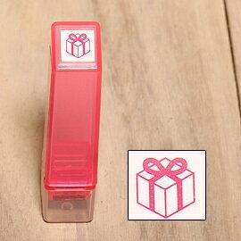 「Kodomo小孩牌」手帳小印章 - 043禮物(粉紅)