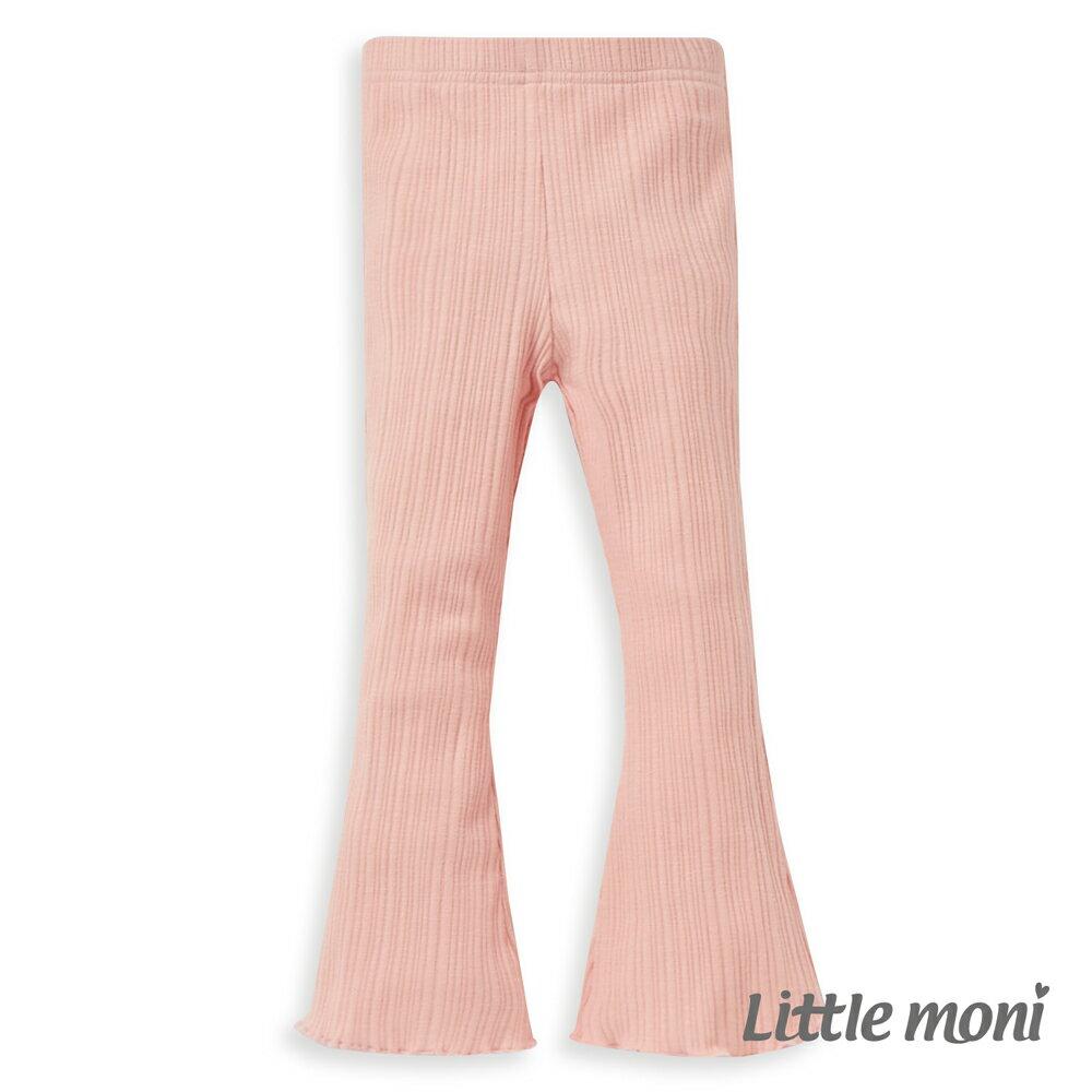 Little moni 針織喇叭褲-粉紅 1