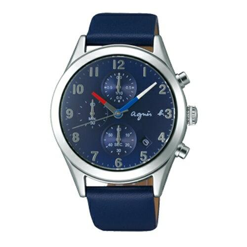 AGNES.B  城市隨行 腕錶  藍  VD57~KT20U