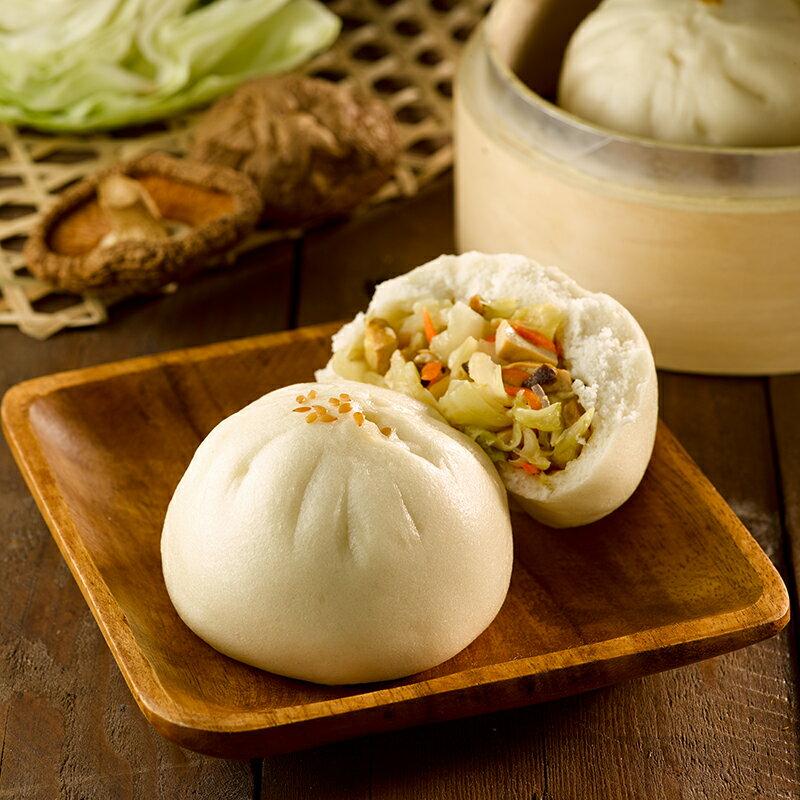 【香菇素菜包】1包5入(每顆約130克+/-5克) ▶玉食堂手工養生包子饅頭