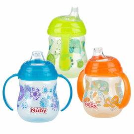 『121婦嬰用品館』Nuby 卡拉防漏雙耳軟嘴杯(幾何款) 270ml