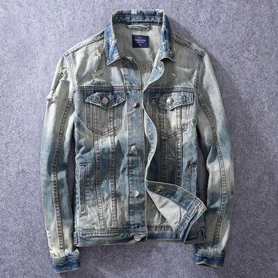 牛仔外套水洗夾克-歐美街頭時尚休閒男外套73rj3【獨家進口】【米蘭精品】