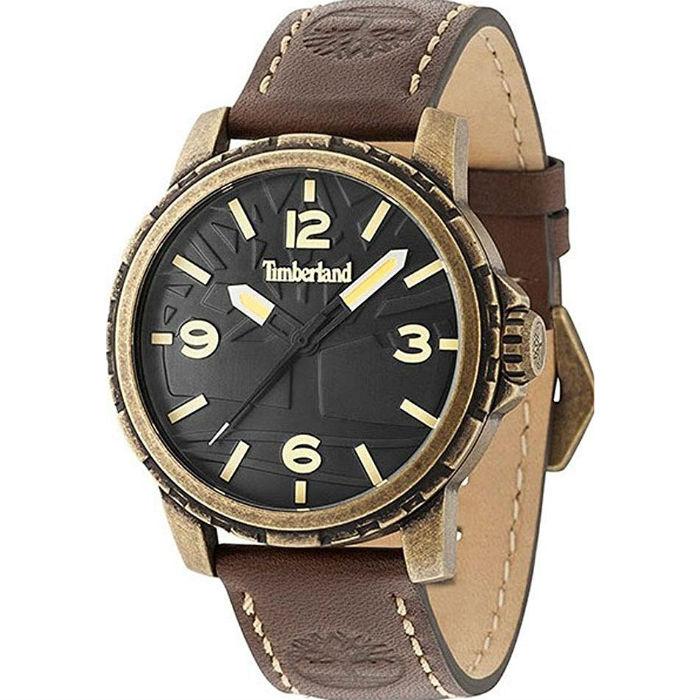 Timberland 天柏嵐 TBL.15257JSA / 02 美式風格立體LOGO腕錶 / 黑面 46mm - 限時優惠好康折扣