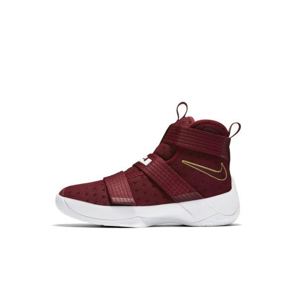 Nike Lebron Soldier 10 PS 童鞋 籃球鞋 中童 士兵 魔鬼氈 紅 白 金 【運動世界】 845122-668
