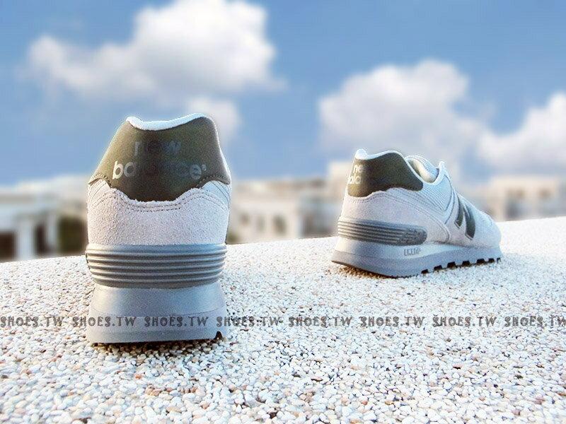 《下殺5折》Shoestw【ML574UWA】NEW BALANCE 574 復古慢跑鞋 灰色 麂皮 反光 男生 2