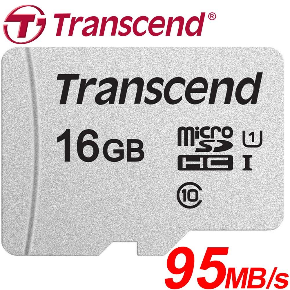 Transcend 創見 16GB 16G microSDHC TF U1 C10 300S 記憶卡