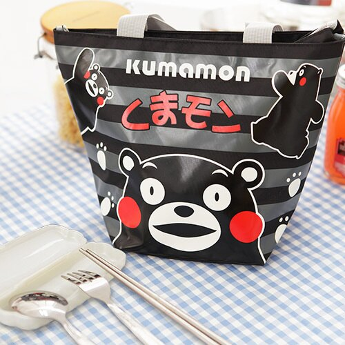 Kumamon酷MA萌 餃形便當袋+台灣製環保三件式餐具組【ML0209+MF0183】(SL0020)