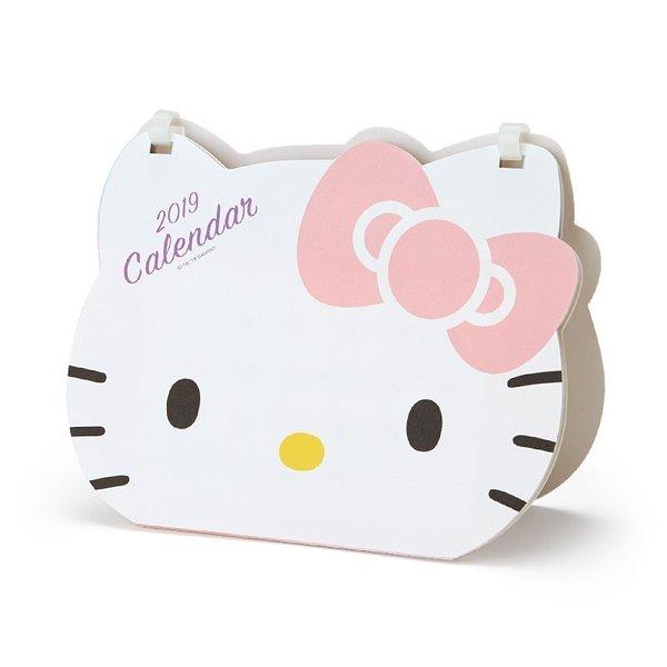 【真愛日本】18090300011造型桌曆19年-KT大臉粉結ADG凱蒂貓kitty桌曆月曆2019年文具