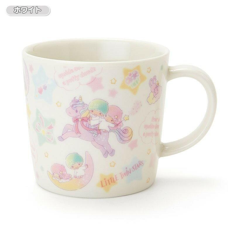 【真愛日本】18011000027 日製陶瓷馬克杯-TS獨角獸白 三麗鷗 kikilala 雙子星 杯子 陶瓷製
