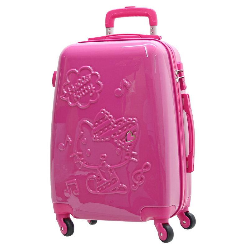 【加賀皮件】Hello Kitty 凱蒂貓 立體 拉鍊 夢幻樂章 24吋 行李箱 旅行箱 KT01O24FC