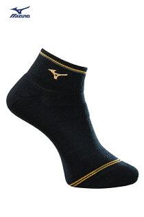 MIZONO美津濃男運動厚底短襪(黑黃)運動短襪32TX800695【胖媛的店】