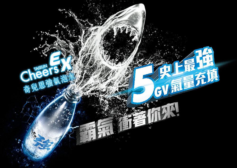 【泰山】Cheers EX 強氣泡水 (500ml*24入 / 箱) 1