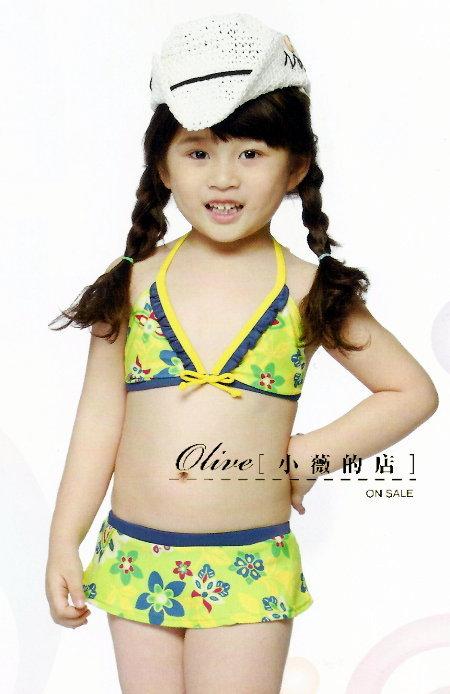 ~小薇的店~名人 專櫃品牌兒童二件式比基尼泳裝 390元NO.36047^(XL^)