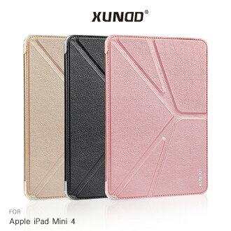 強尼拍賣~強尼拍賣~XUNDD Apple iPad Mini 4 迪卡皮套 軟殼 保護套 保護殼 PU皮套 可立皮套 智耐休眠