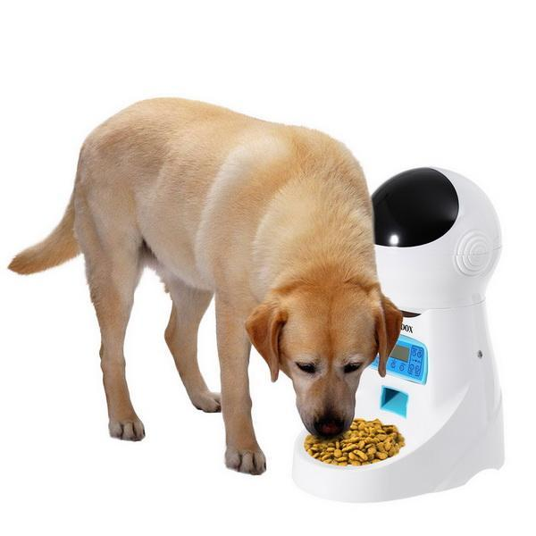 Automatic Pet Feeder Voice Recorder Timer Programmable Food Dispenser 4