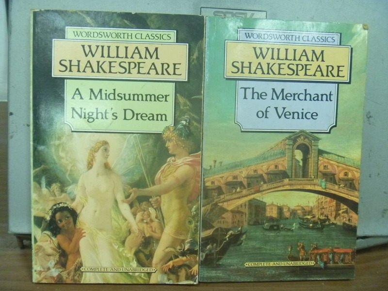 【書寶二手書T5/原文小說_IBT】A Midsummer nights_The merchant of_共2本合售