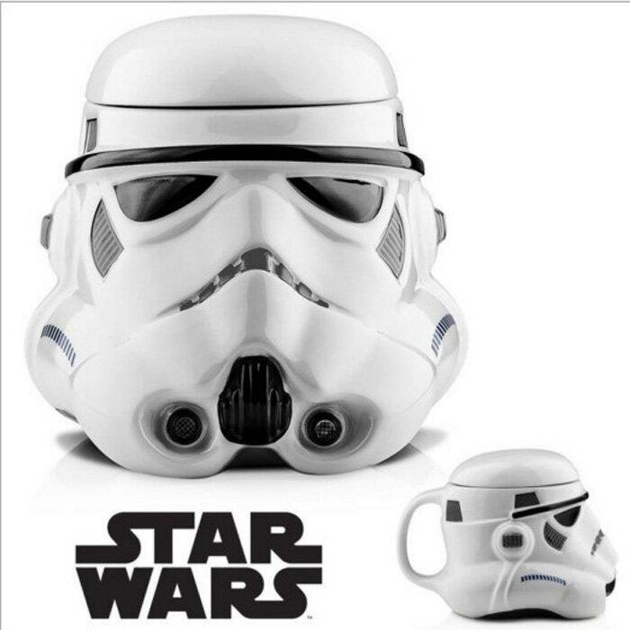 糖衣子輕鬆購【DZ0395】星際大戰黑武士白士兵馬克杯咖啡杯陶瓷杯Star Wars Rebels mug