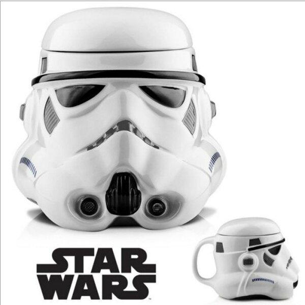 糖衣子輕鬆購【DZ0395】星際大戰黑武士白士兵馬克杯咖啡杯陶瓷杯StarWarsRebelsmug