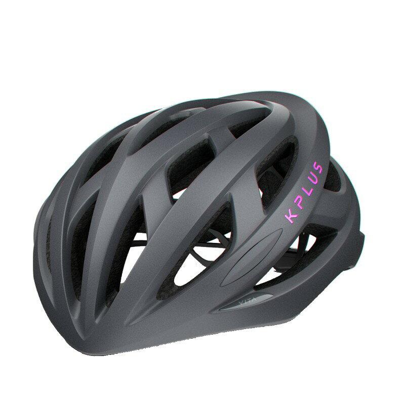 【7號公園自行車】KPLUS VITA 基本款自行車專用安全帽(銀灰粉)