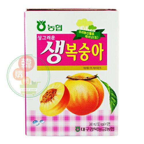 【韓購網】韓國水蜜桃汁240ml(12入)★生水蜜桃果汁★韓國飲料