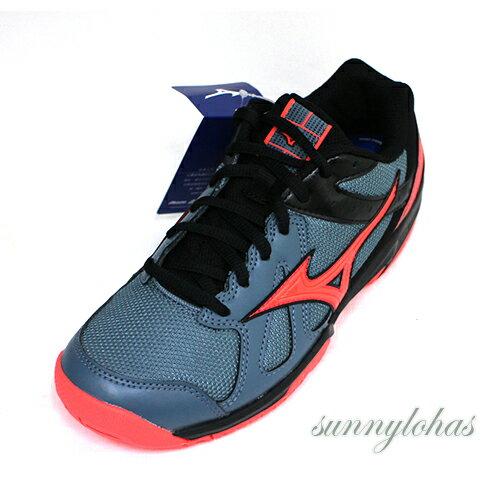 MIZUNO美津濃(女)CYCLONESPEED排球鞋羽球鞋緩衝-V1GC178065灰橘[陽光樂活]