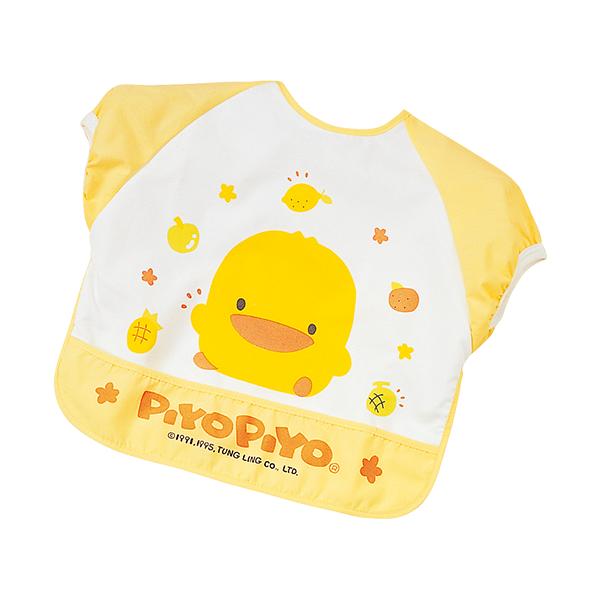 『121婦嬰用品館』黃色小鴨 短袖餵食圍兜 - 限時優惠好康折扣