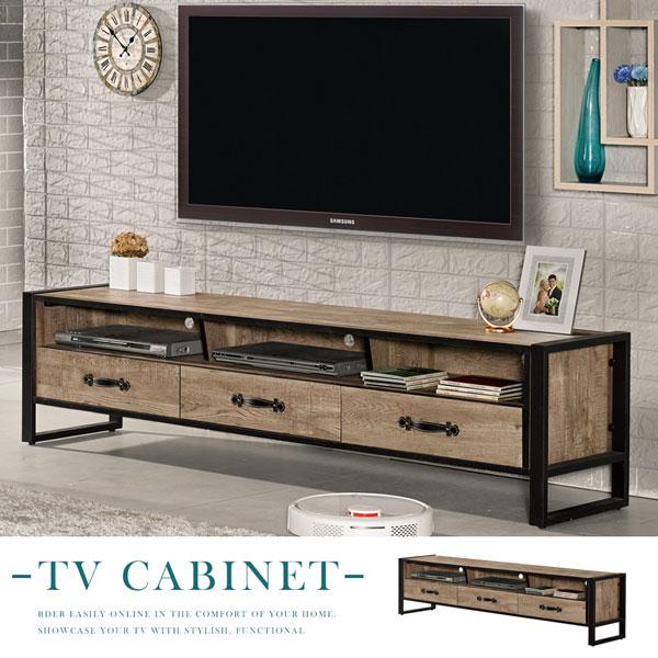 電視櫃《Yostyle》班特工業風6尺電視櫃視聽櫃收納櫃置物櫃客廳收納