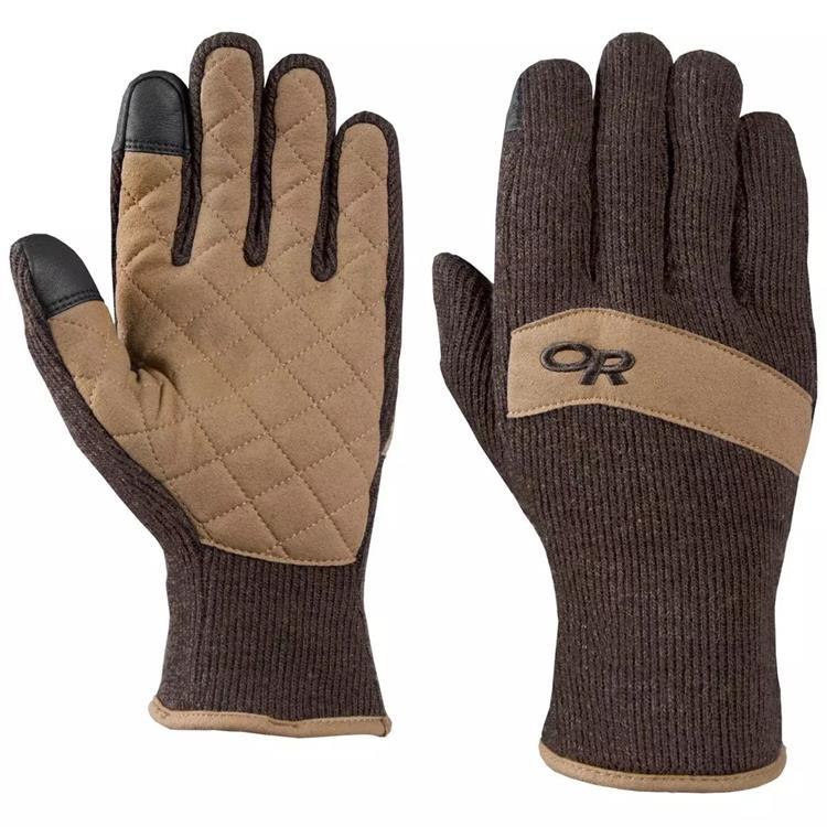 Outdoor Research 刷毛手套/羊毛保暖手套 Exit Sensor 243141 1573 咖啡/棕