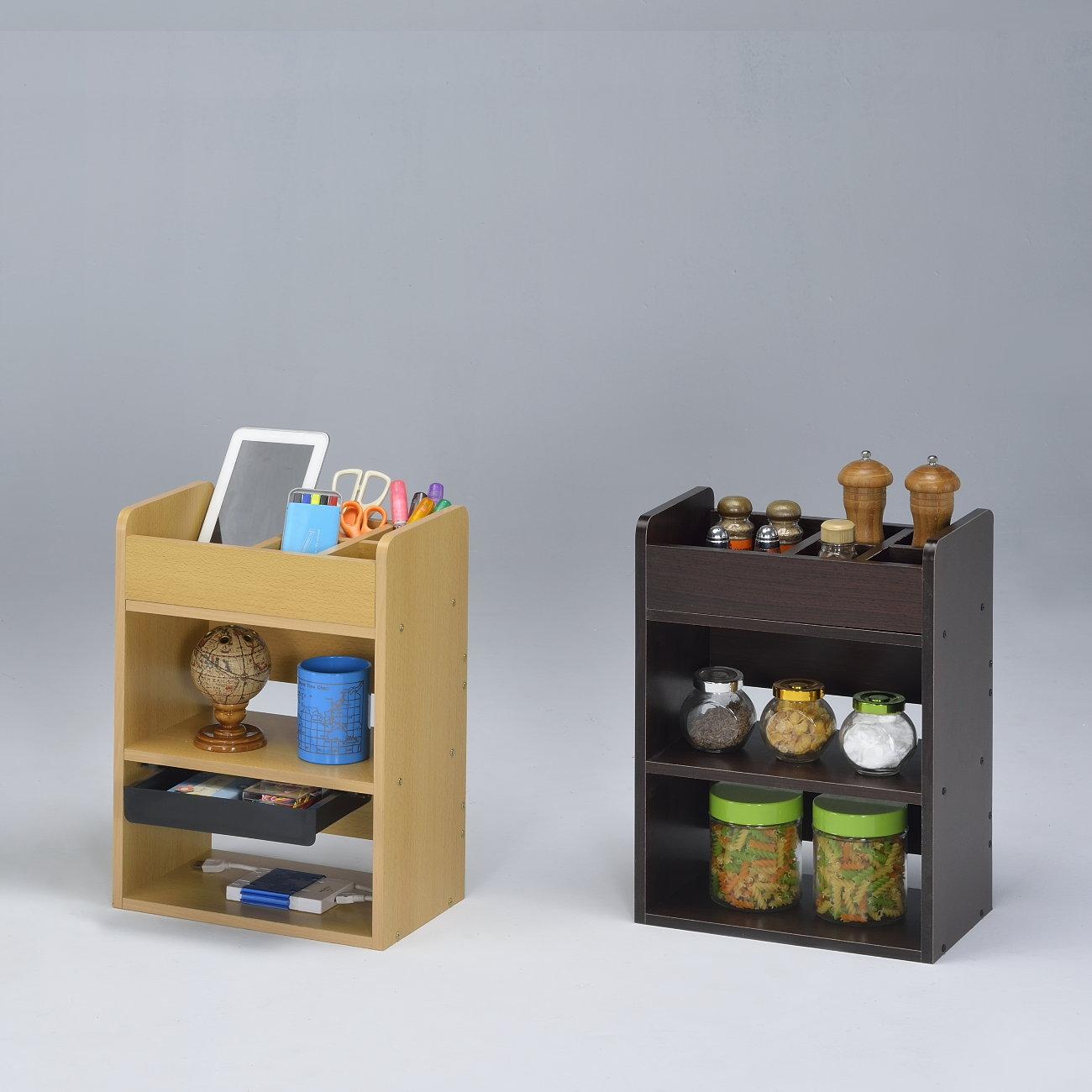 生活大發現-DIY家具-貝里斯多用途桌上架+抽屜/書架/展示架/桌上架/書櫃/化妝桌
