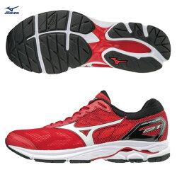 美津濃 MIZUNO  男跑鞋  WAVE RIDER 21  (紅)  一般楦  雲波浪款路跑鞋 J1GC180301【 胖媛的店 】