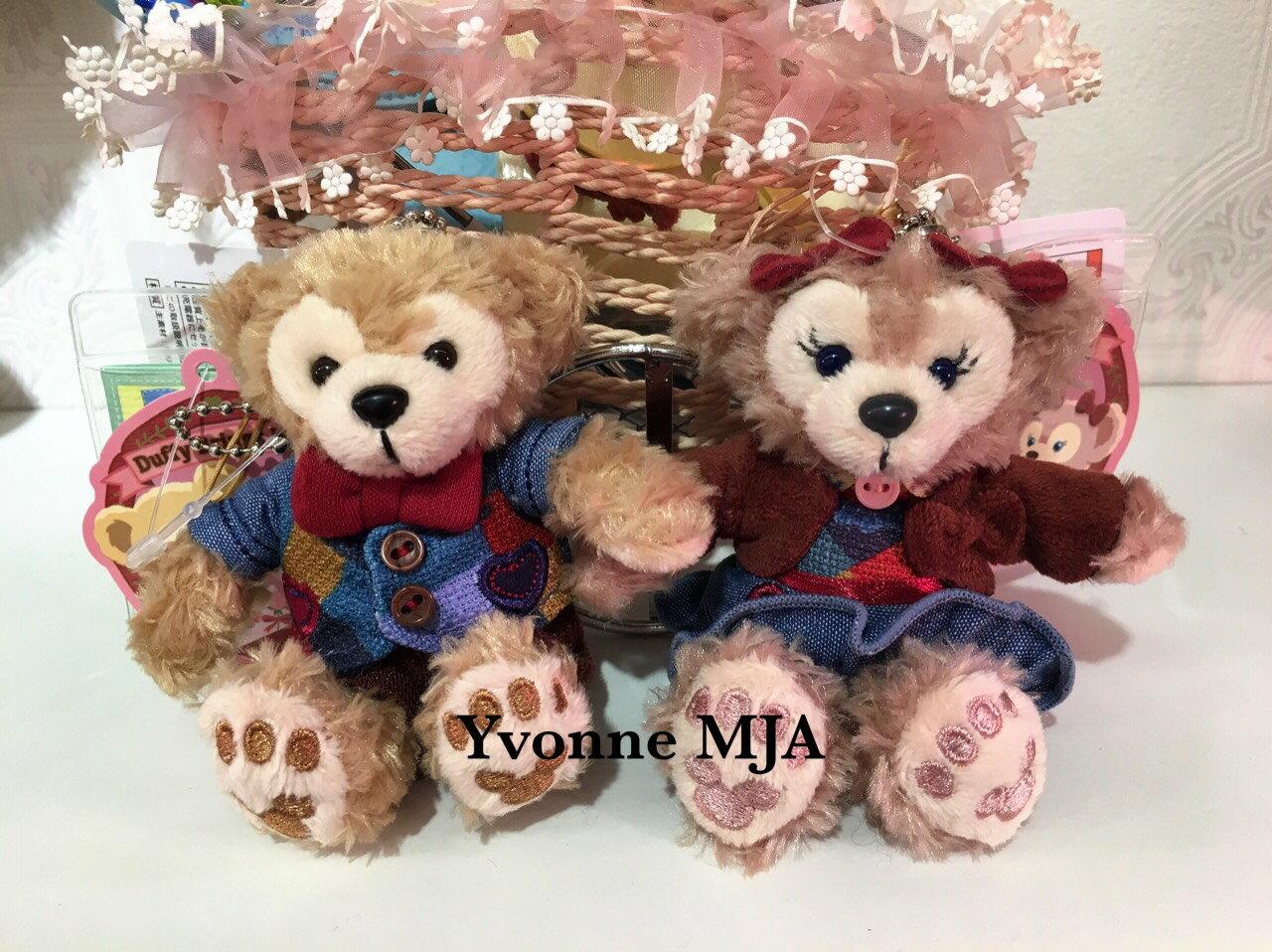 *Yvonne MJA日本代購*東京迪士尼海洋樂園限定正品Duffy達菲熊雪莉玫2016情人節坐姿吊飾