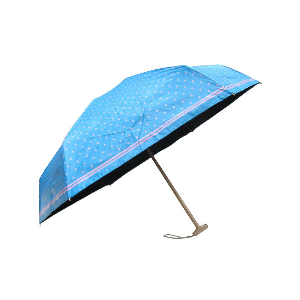 雨傘 陽傘 ☆萊登傘☆ 短傘 抗UV 超短五折傘 扁傘 旅行傘 黑膠傘 色膠傘 Leotern 圓點印花