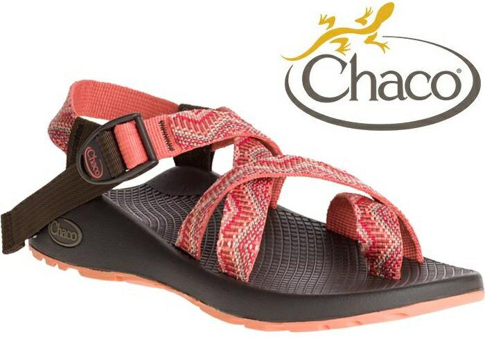 Chaco 涼鞋/越野運動涼鞋/水陸鞋/綁帶涼鞋-夾腳款 女 美國佳扣 CH-ZCW02 HC37 粉紅串珠