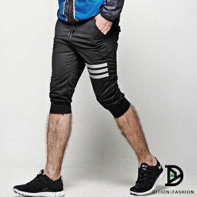 DITION 美式SLIDE單車反光條 口袋棉褲 運動短褲 0