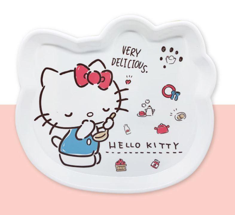 X射線【C169296】Hello Kitty 頭型托盤S,小物收納架 / 飾品盤 / 點心盤 / 零錢盤 / 水果盤 / 茶盤 0